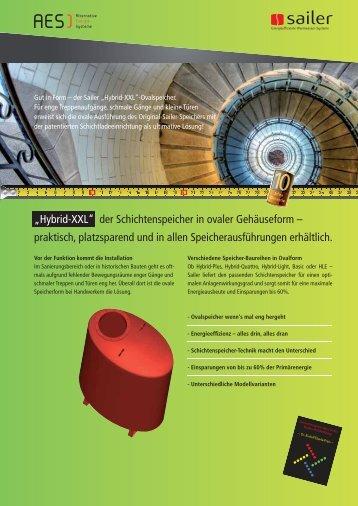 """""""Hybrid-XXL"""" der Schichtenspeicher in ovaler Gehäuseform - AES ..."""