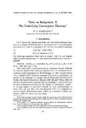 Notes on integration I: The underlying convergence theorem