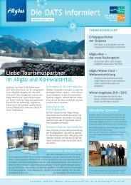 Allgäu-Walser-Card - OberAllgäu Tourismus Service