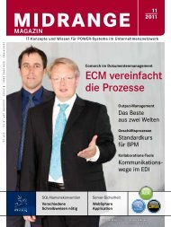 ECM vereinfacht die Prozesse - Midrange Magazin