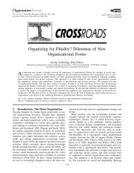 Dilemmas of New Organizational Forms - Organization Science ...