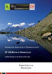 ims-2012 3rd Circular - International Association of Sedimentologists