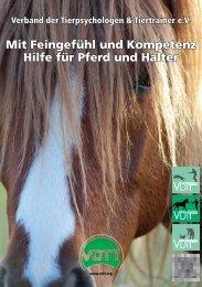 VdTT Broschüre Pferd - Verband der Tierpsychologen und ...