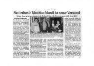 Siedlerbund: Matthias Mandl ist neuer Vorstand ~ - Verband ...