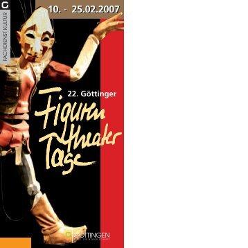 Programm 2007 - Figurentheatertage - Stadt Göttingen
