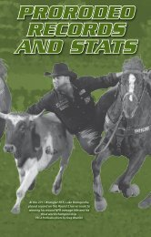 prorodeo records and stats - Professional Rodeo Cowboys ...