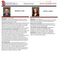 Senior Spotlight 2012 - The University of South Dakota
