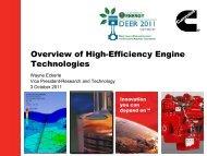 Overview of High-Efficiency Engine Technologies - EERE