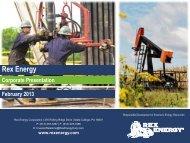 Corporate Presentation - Rex Energy