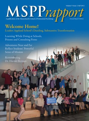 2012 Rapport, Special Annual Report Edition - Massachusetts ...