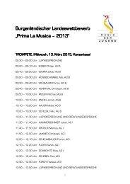 Zeitplan und TeilnehmerInnen