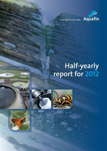 Semi annual report 2012 - Aquafin