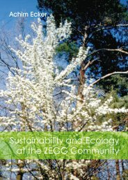 Sustainability and Ecology at the ZEGG Community - Stellungnahme ...