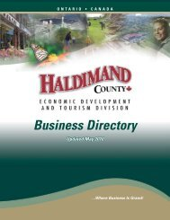 Business Directory - Haldimand County
