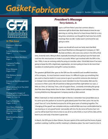 December 2012 - Gasket Fabricators Association