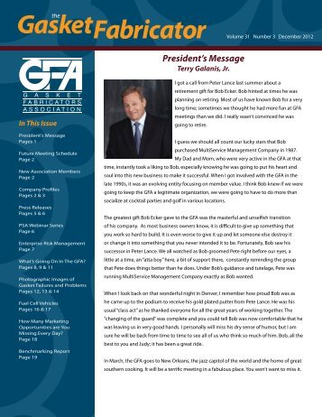 December 2012 - Gasket Fabricators Association