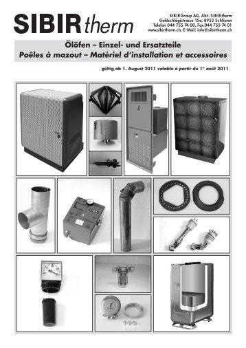 Matériel d'installation et accessoires - Sibir