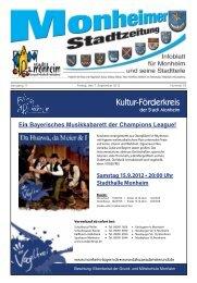 Stadtzeitung 2012-09-07.pdf - Stadt Monheim