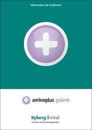 Fachinformationen zu aminoplus gelenk - Kyberg Vital
