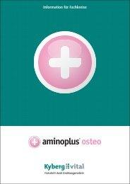 Fachinformationen zu aminoplus osteo - Kyberg Vital