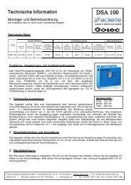DSA 100 - Eckerle Industrie-Elektronik GmbH