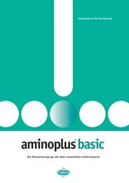 Fachinformationen zu aminoplus basic - Kyberg Vital