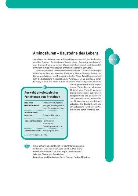 Fachinformationen zu aminoplus basic - Kyberg Vital