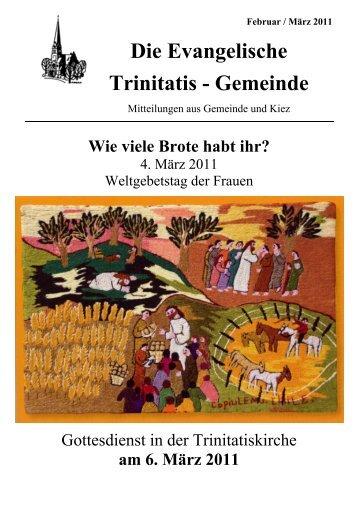 Februar / März 2011 - Ev. Trinitatis Gemeinde Berlin-Charlottenburg
