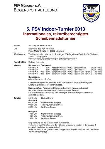 Ausschreibung - Bogen PSV