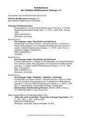 Publikationsliste der Initiative Stadtmuseum Coburg
