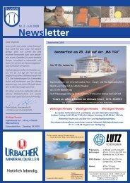 Newsletter Nr. 2 - Juli 2009 - TC Urbach