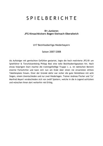 Spielberichte Saison 2007/08 (PDF)... - SportOn.de