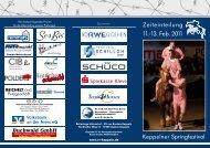 Zeiteinteilung 11.-13. Feb. 2011