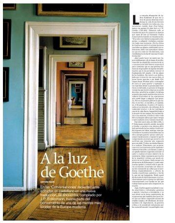 A la luz de Goethe - Acantilado