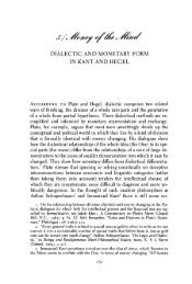 dialectic and monetary form in kant and hegel - People Fas Harvard