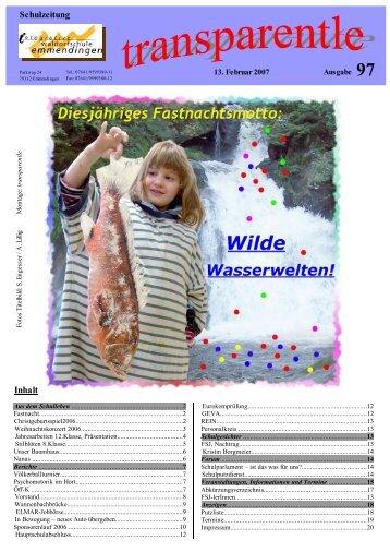 Schulzeitung Inhalt - Integrative Waldorfschule Emmendingen