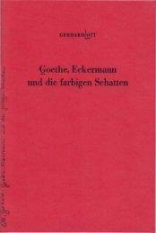 Gerhard Ott: Goethe, Eckermann und die farbigen ... - Farben-Welten