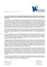 Statement der Westend Druckereibetriebe GmbH - Hannover Finanz ...