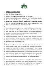 Jever-Prüfungskommission tagt im Rathaus - Radeberger Gruppe KG