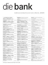 2009 - Die Bank