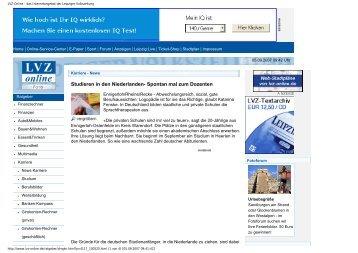 Leipziger Volkszeitung online - Studieren in Holland