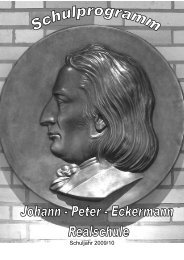 Das Schulprogramm der Johann-Eckermann-Realschule