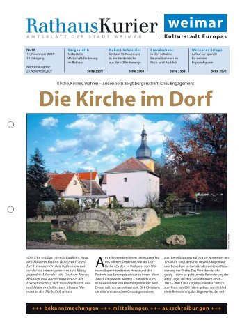 Rathauskurier 19 2007 - Stadt Weimar