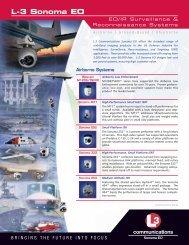 L-3 Sonoma EO - L-3 Communications