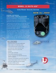 L-3 Sonoma EO MODEL 12 DS/TS 650™ LONG -RANGE IMAGING ...