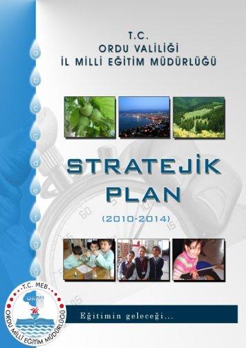 Stratejik Plan - Ordu Milli Eğitim Müdürlüğü - Milli Eğitim Bakanlığı
