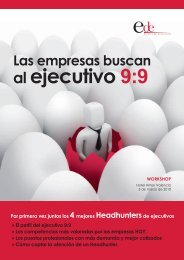 Dossier Workshop: Las empresas buscan al ejecutivo 9