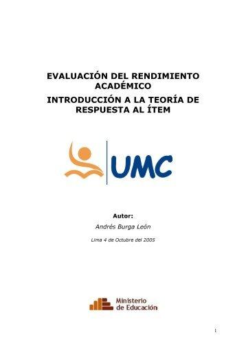 evaluación del rendimiento académico introducción a la teoría