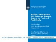 Apollon: An Emerging Risk Detection Support System for Food and ...