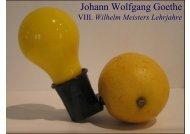 Johann Wolfgang Goethe VIII. Wilhelm Meisters Lehrjahre